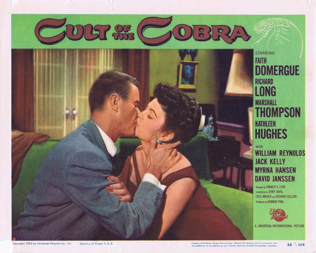 CULT OF THE COBRA Lobby Card 3 Faith Domergue Kathleen Hughes Richard Long Sci fi