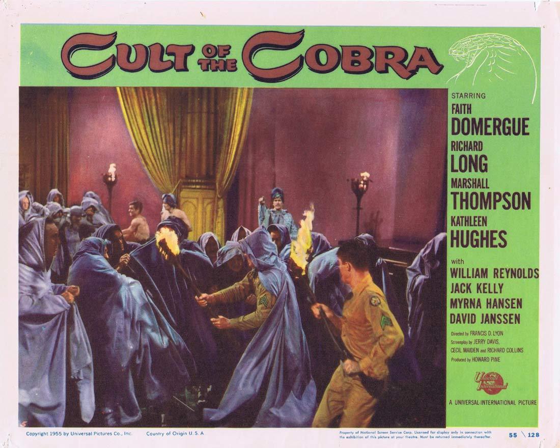 CULT OF THE COBRA Lobby Card 5 Faith Domergue Kathleen Hughes Richard Long Sci fi