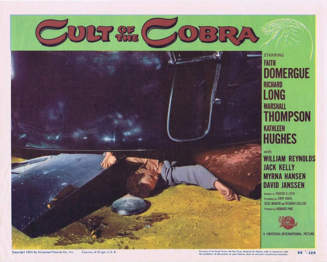 CULT OF THE COBRA Lobby Card 6 Faith Domergue Kathleen Hughes Richard Long Sci fi