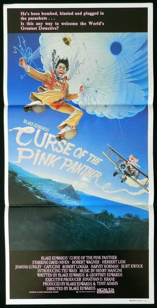 CURSE OF THE PINK PANTHER Rare Daybill Movie Poster David Niven Robert Wagner