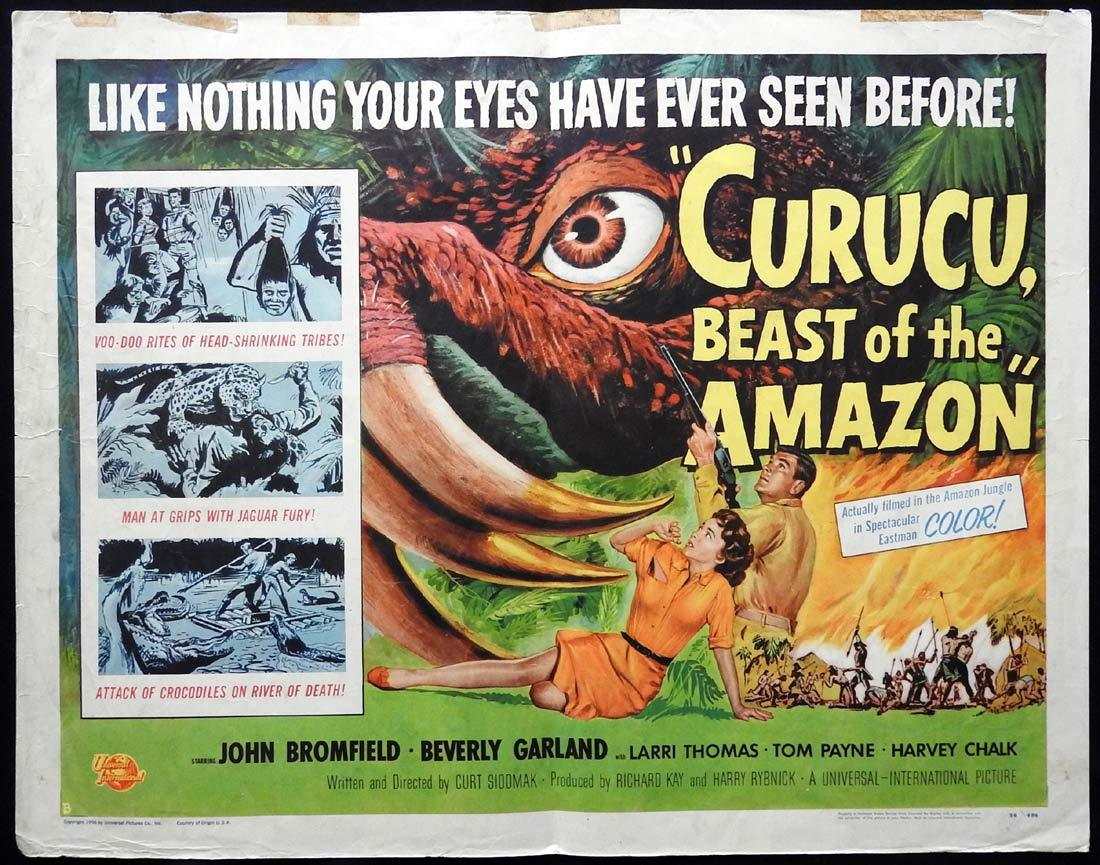 CURUCU BEAST OF THE AMAZON Original US Half sheet Movie poster Sci Fi