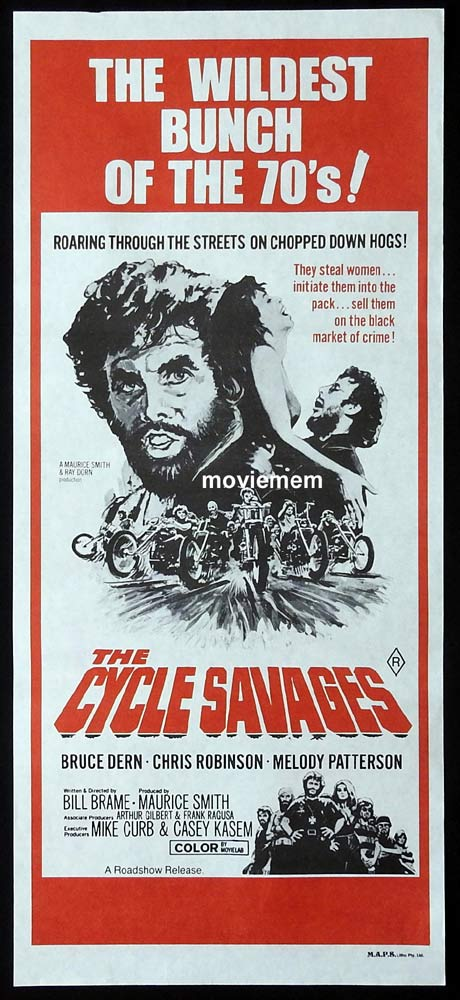 THE CYCLE SAVAGES Original Daybill Movie Poster Motorcycle Biker Bruce Dern