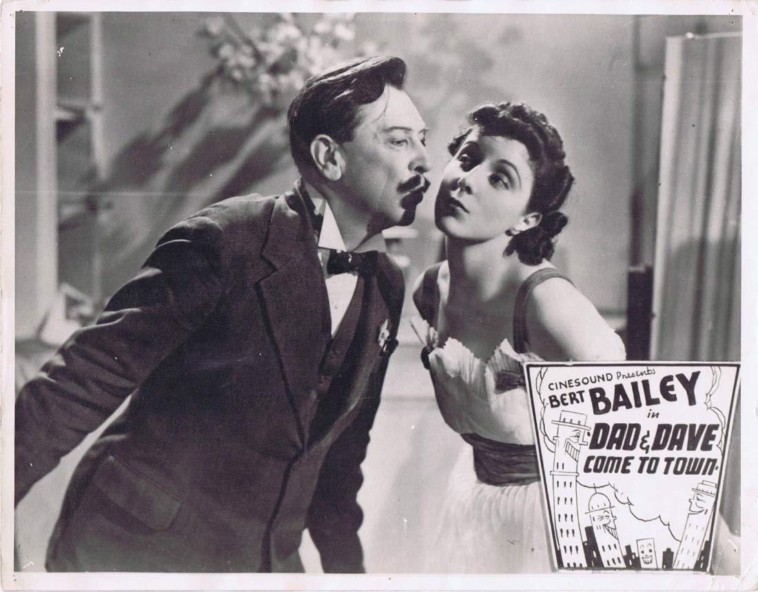 DAD AND DAVE COME TO TOWN Australian Lobby Card 3 1940s  Bert Bailey