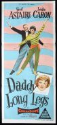 DADDY LONG LEGS Original Daybill Movie Poster Fred Astaire Leslie Caron
