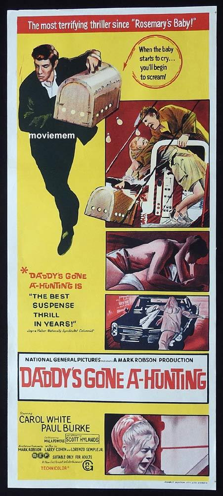 DADDY'S GONE A HUNTING Original Daybill Movie Poster Carol White Paul Burke