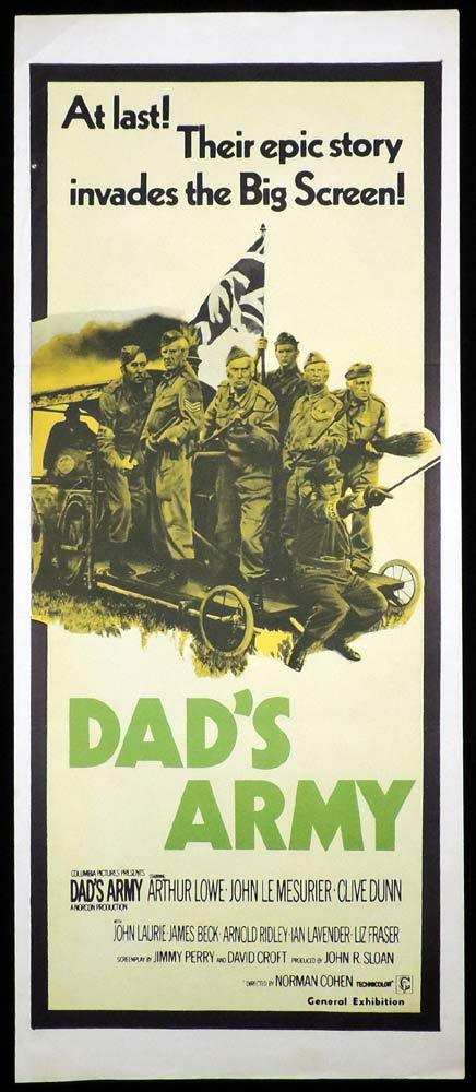 DAD'S ARMY Original Daybill Movie Poster Arthur Lowe