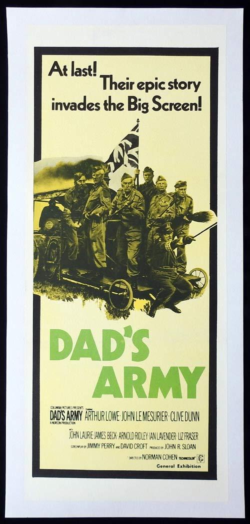 DAD'S ARMY Linen Backed Daybill Movie poster Arthur Lowe John LeMesurier