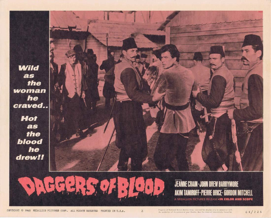 DAGGERS OF BLOOD Lobby Card 2 Pierre Brice Jeanne Crain
