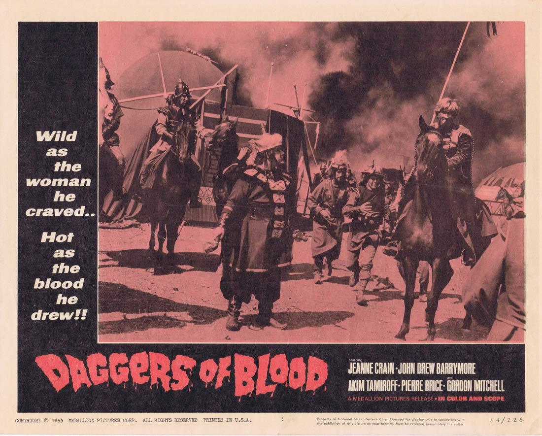 DAGGERS OF BLOOD Lobby Card 3 Pierre Brice Jeanne Crain