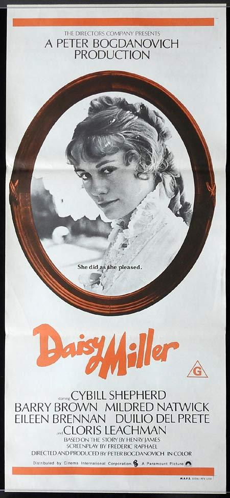 DAISY MILLER Original Daybill Movie poster Cybill Shpeherd