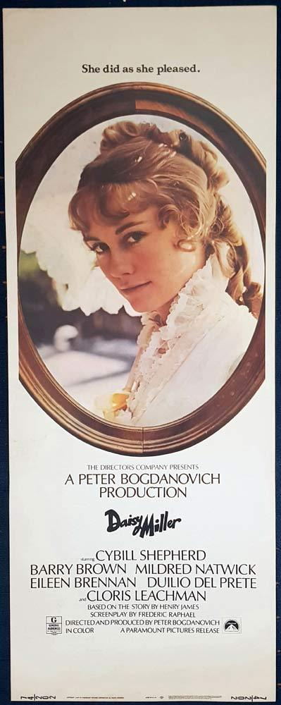 DAISY MILLER Original US Insert Movie Poster Cybill Shepherd Barry Brown