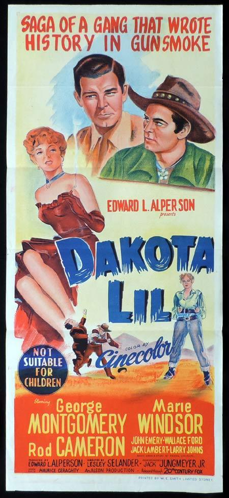 DAKOTA LIL Original Daybill Movie Poster George Montgomery