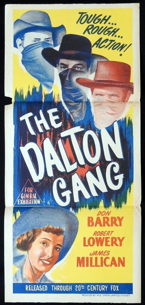THE DALTON GANG Original Daybill Movie poster