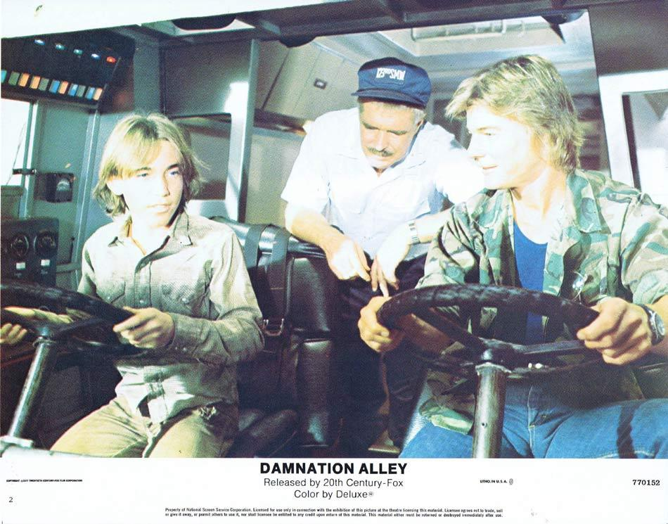 DAMNATION ALLEY Lobby Card 2 Jan-Michael Vincent George Peppard