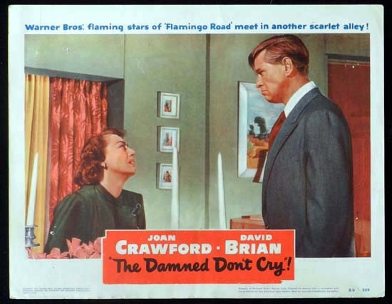 THE DAMNED DON'T CRY 1950 Joan Crawford Rare Lobby Card 5