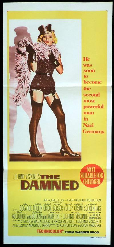 THE DAMNED Original Daybill Movie Poster Dirk Bogarde