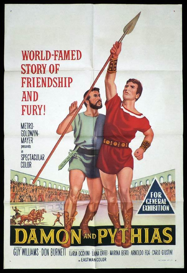 DAMON AND PYTHIAS One Sheet Movie Poster Guy Williams