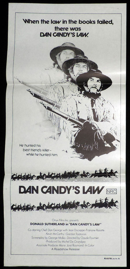 DAN CANDY'S LAW, Original Daybill, Movie poster, Donald Sutherland