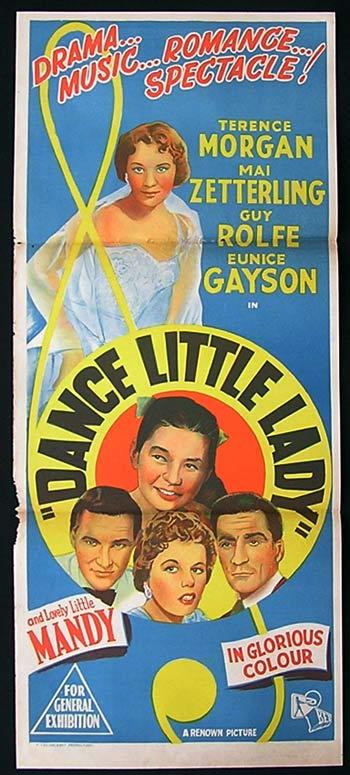 DANCE LITTLE LADY 1954 Movie Poster 1958 Mai Zetterling daybill