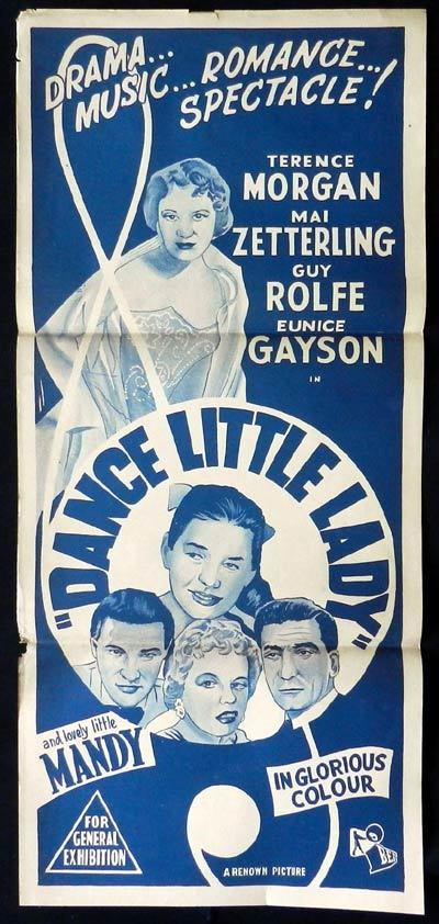 DANCE LITTLE LADY Daybill Movie poster Terence Morgan