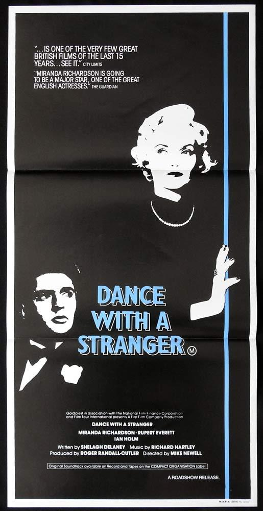 DANCE WITH A STRANGER Original Daybill Movie poster Miranda Richardson