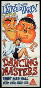 THE DANCING MASTERS Original Daybill Movie Poster Laurel and Hardy
