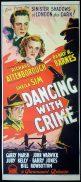 DANCING WITH CRIME Original Daybill Movie Poster Richard Attenborough Film Noir