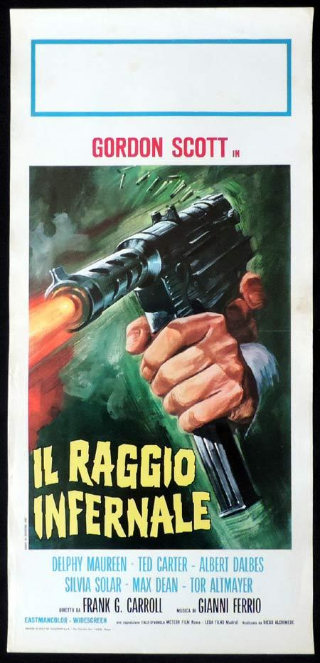 DANGER DEATH RAY Italian Locandina Movie Poster Gordon Scott