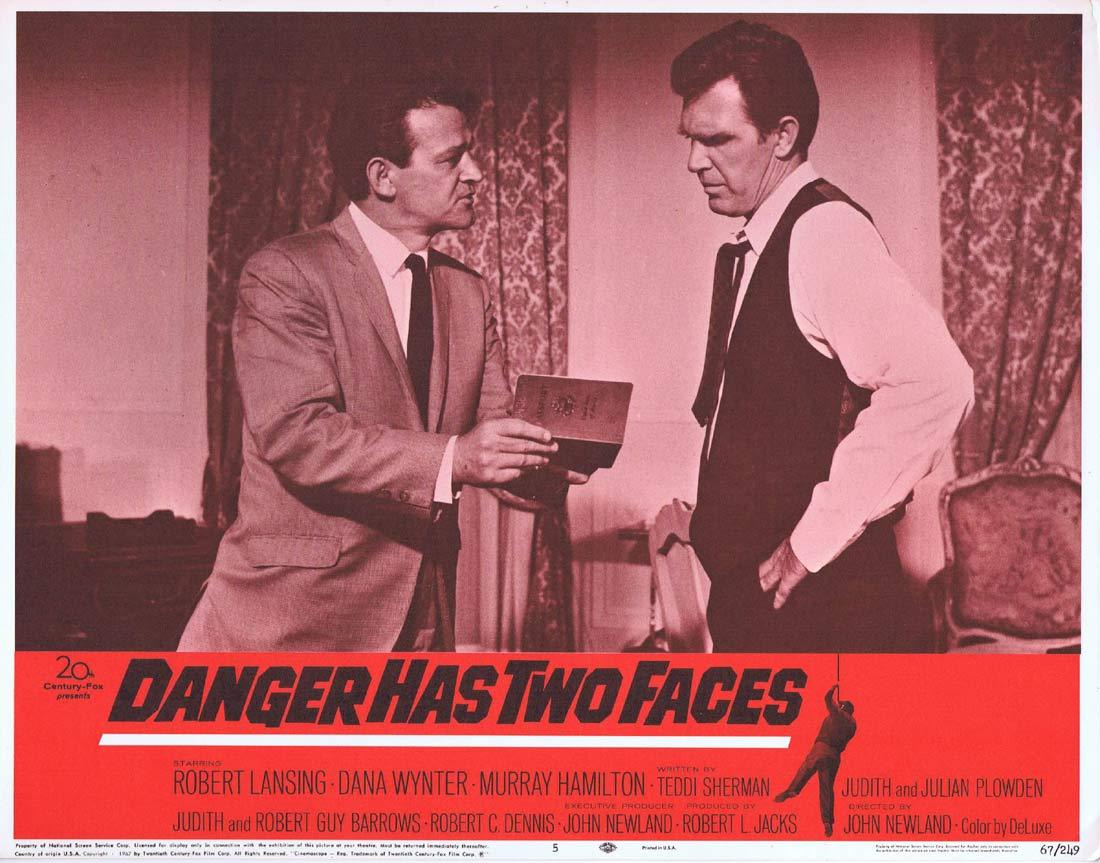 DANGER HAS TWO FACES Lobby Card 5 Robert Lansing Dana Wynter