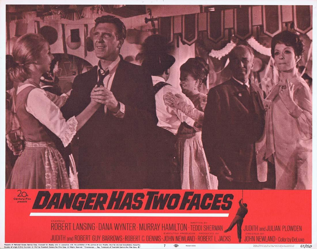 DANGER HAS TWO FACES Lobby Card 7 Robert Lansing Dana Wynter