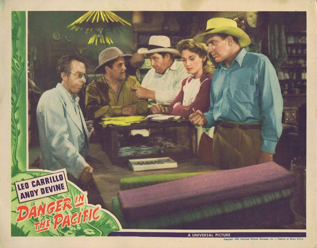 DANGER IN THE PACIFIC Lobby Card 5 Louise Allbritton Leo Carrillo