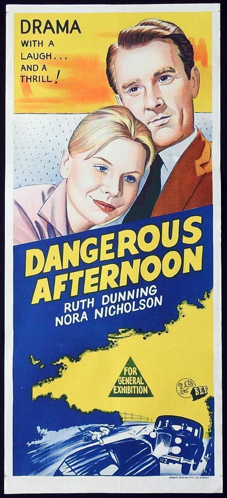 DANGEROUS AFTERNOON Original Daybill Movie Poster Nora Nicholson