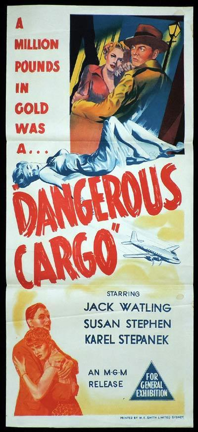 DANGEROUS CARGO Daybill Movie poster Jack Watling British Film Noir