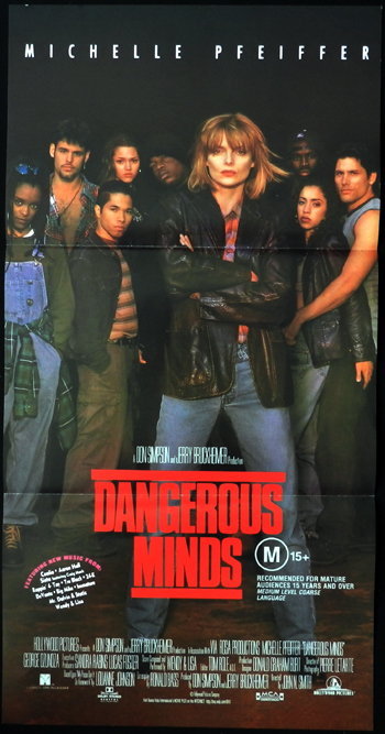 DANGEROUS MINDS daybill Movie poster Michelle Pfeiffer