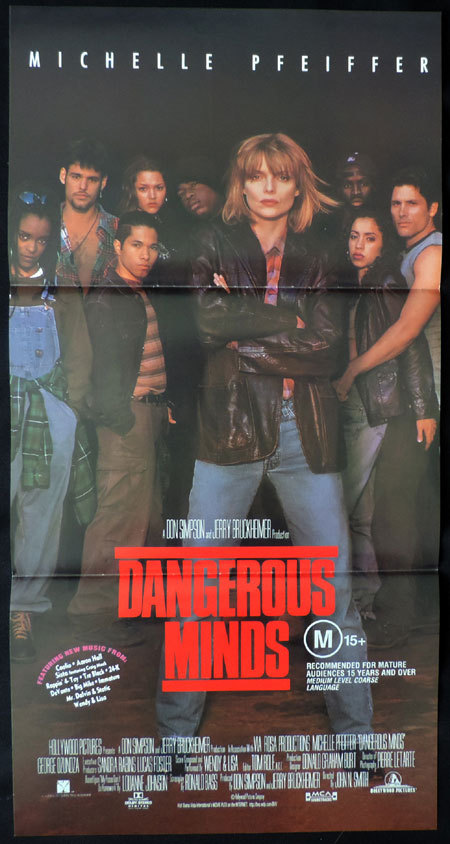 DANGEROUS MINDS Australian Daybill Movie poster Michelle Pfeiffer