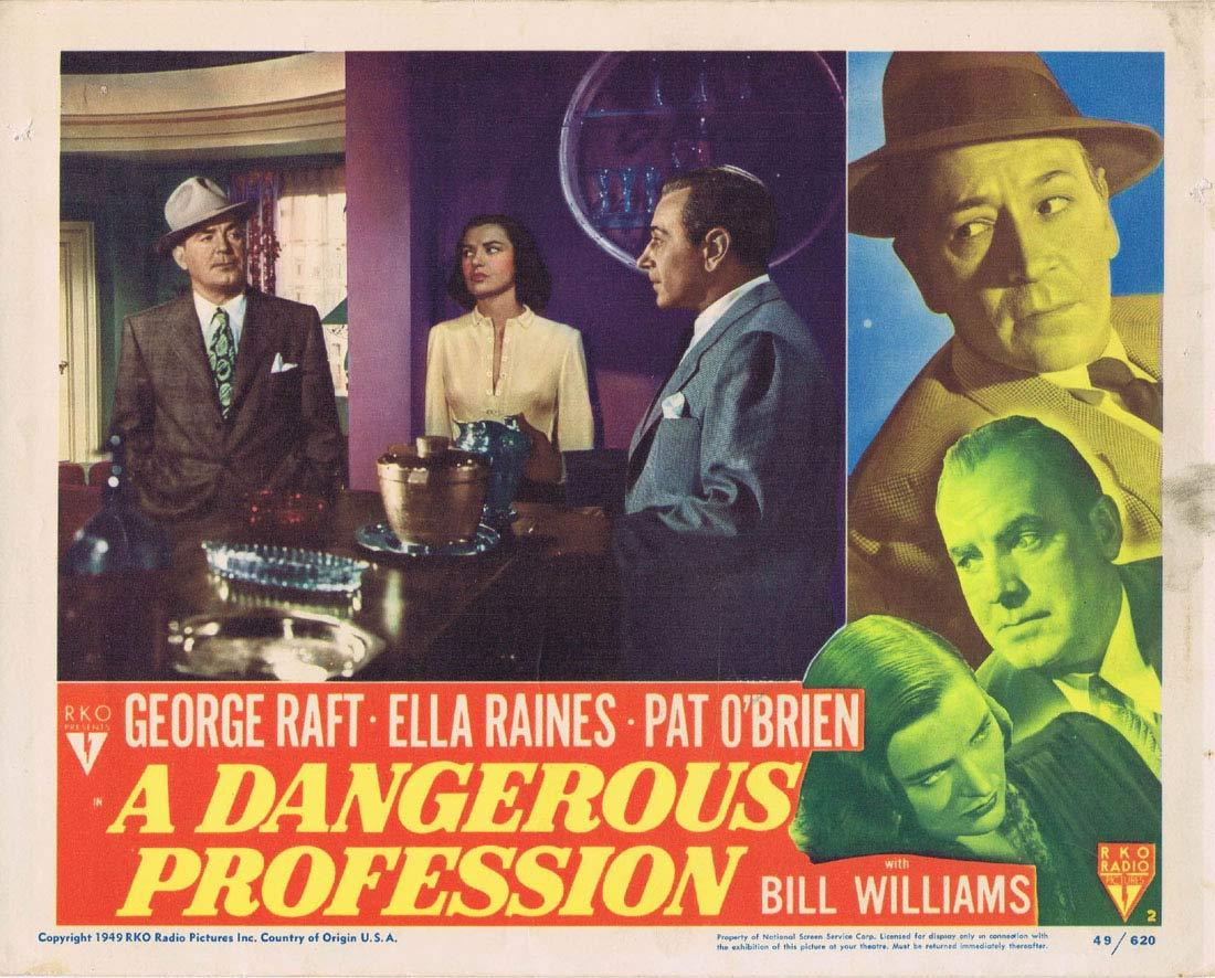 A DANGEROUS PROFESSION Original Lobby Card 2 George Raft Ella Raines Pat O'Brien RKO