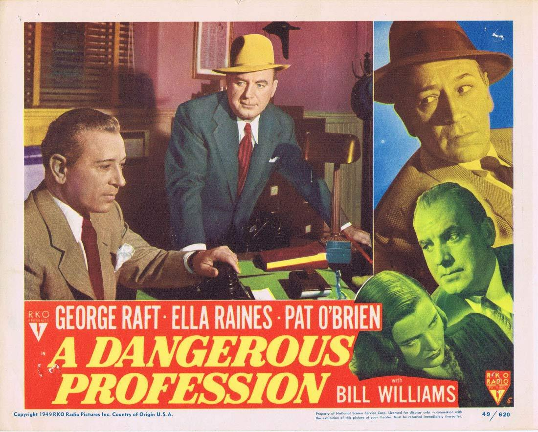 A DANGEROUS PROFESSION Original Lobby Card 5 George Raft Ella Raines Pat O'Brien RKO