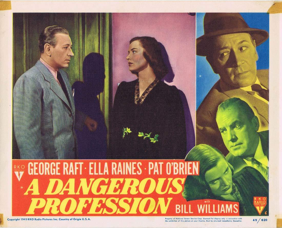 A DANGEROUS PROFESSION Original Lobby Card 6 George Raft Ella Raines Pat O'Brien RKO