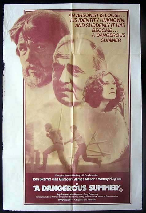 DANGEROUS SUMMER Movie Poster 1979 Tom Skerritt Australian One sheet Movie poster