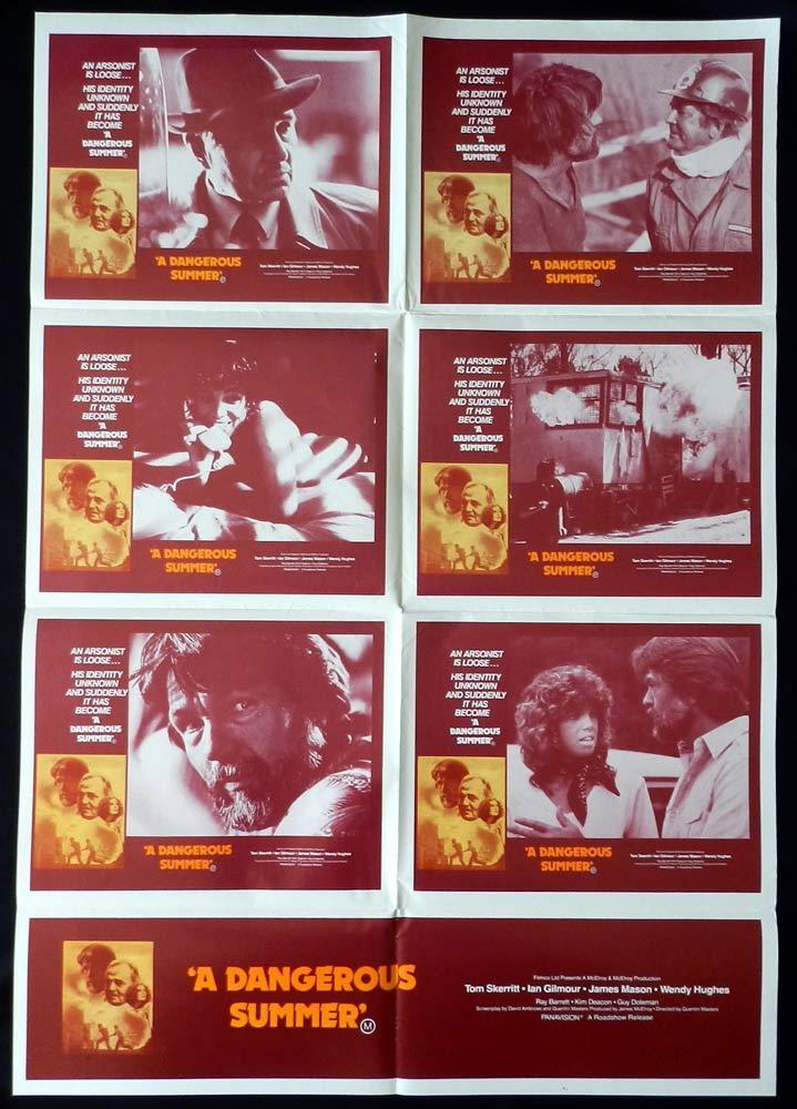 A DANGEROUS SUMMER Original Photo Sheet Movie Poster Tom Skerritt Wendy Hughes