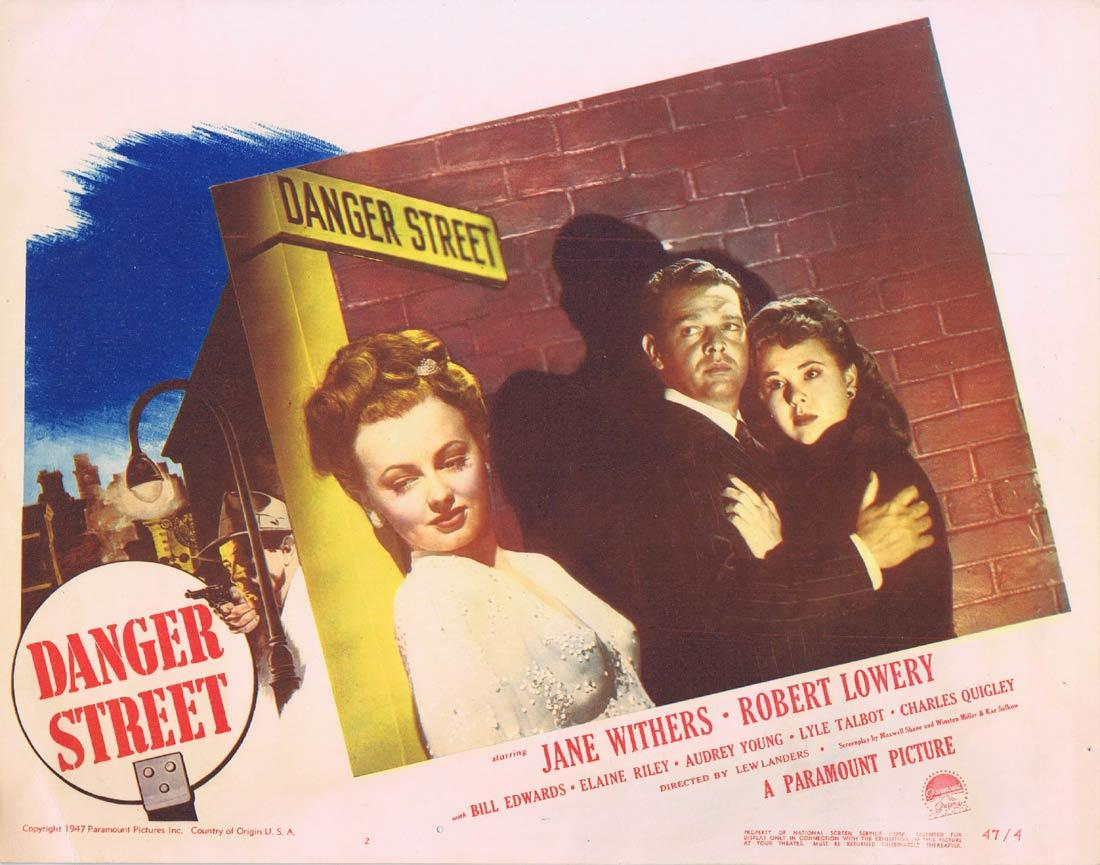 Danger Street, Lew Landers, Jane Withers Robert Lowery Bill Edwards Elaine Riley Audrey Young Lyle Talbot
