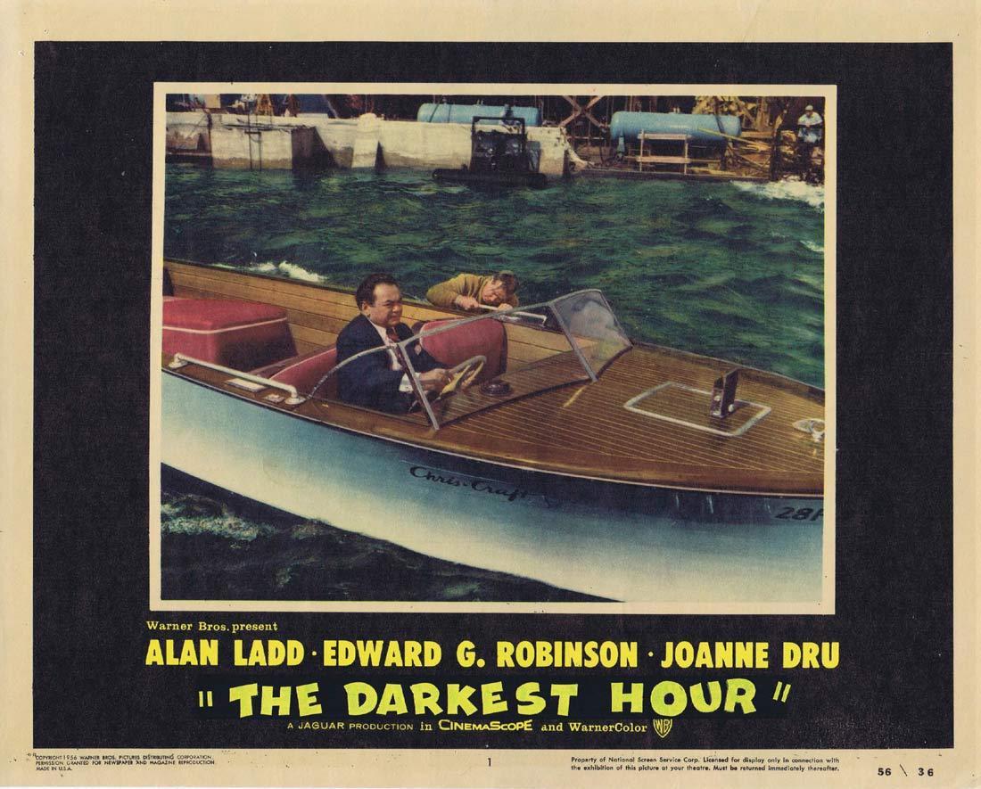 THE DARKEST HOUR aka HELL ON FRISCO BAY Lobby Card 1 Alan Ladd Edward G Robinson