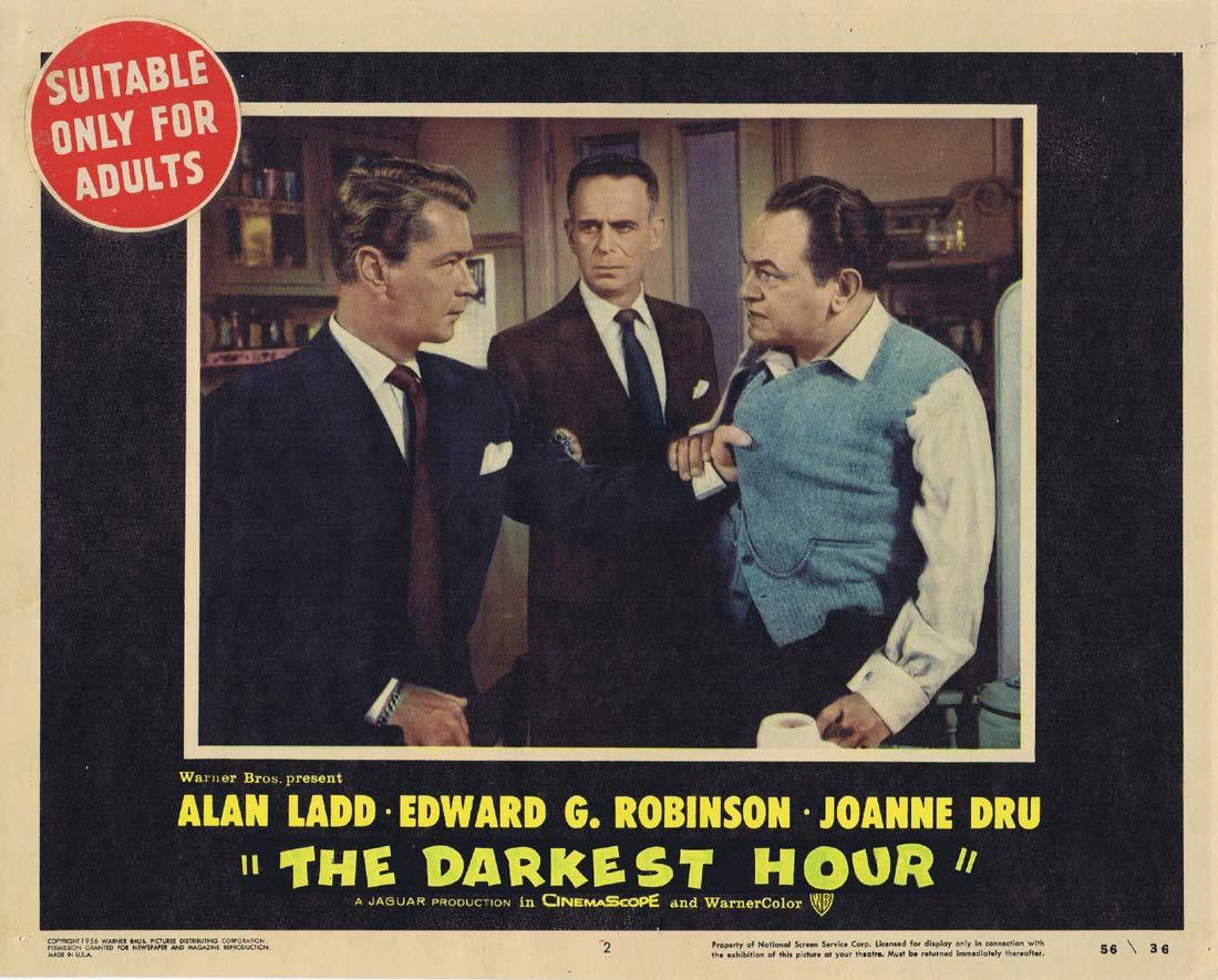 THE DARKEST HOUR aka HELL ON FRISCO BAY Lobby Card 2 Alan Ladd Edward G Robinson