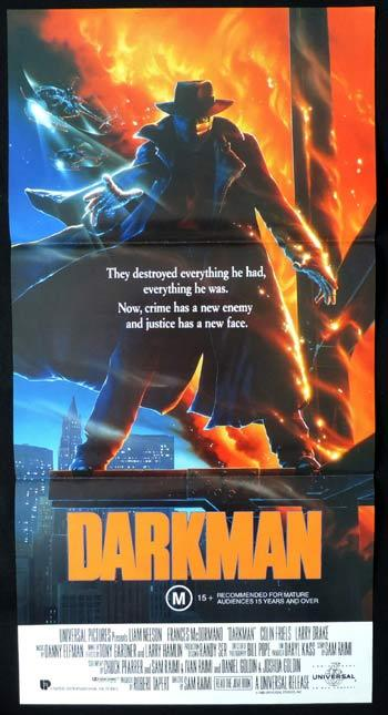DARKMAN Daybill Movie poster Colin Friels Larry Drake