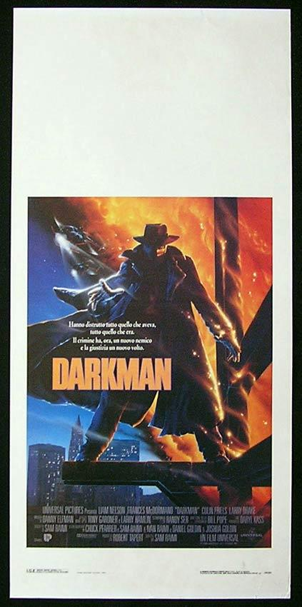 DARKMAN Italian Locandina Movie Poster Larry Tate Liam Neeson