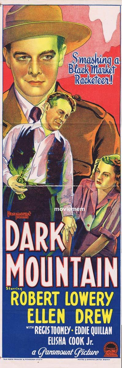 DARK MOUNTAIN Original Daybill Movie Poster Robert Lowery Film Noir