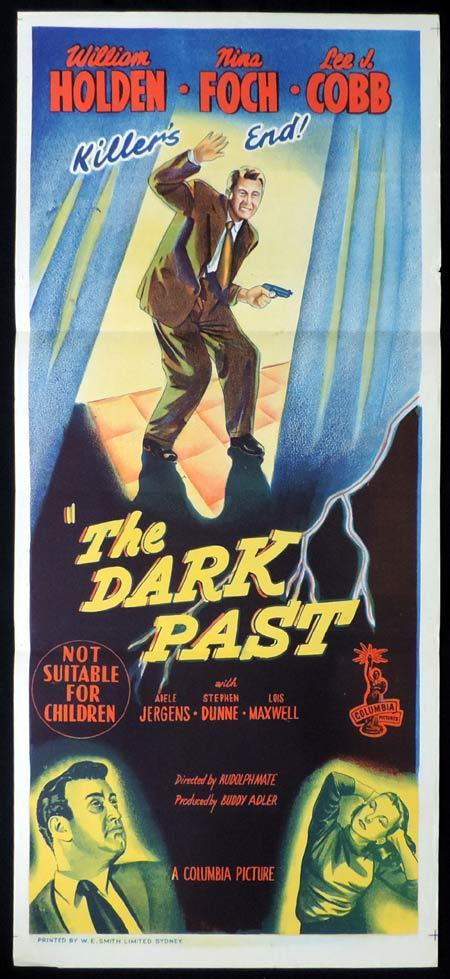 THE DARK PAST Original Daybill Movie Poster William Holden Rudolph Maté