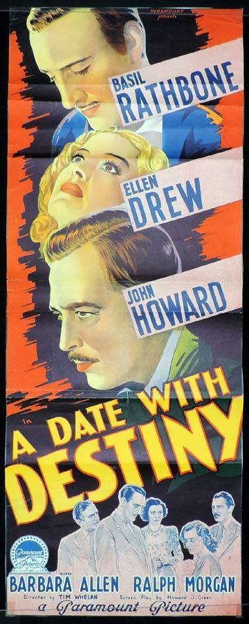 DATE WITH DESTINY aka THE MAD DOCTOR Long Daybill Movie poster 1941 Basil Rathbone