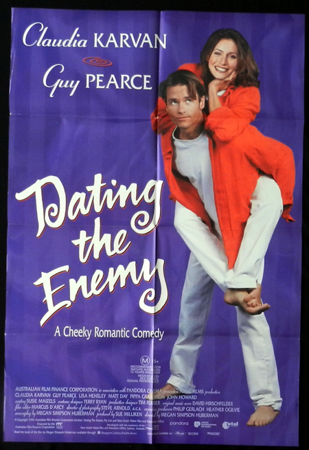 DATING THE ENEMY 1996 Guy Pearce Australian Film One Sheet Movie Poster