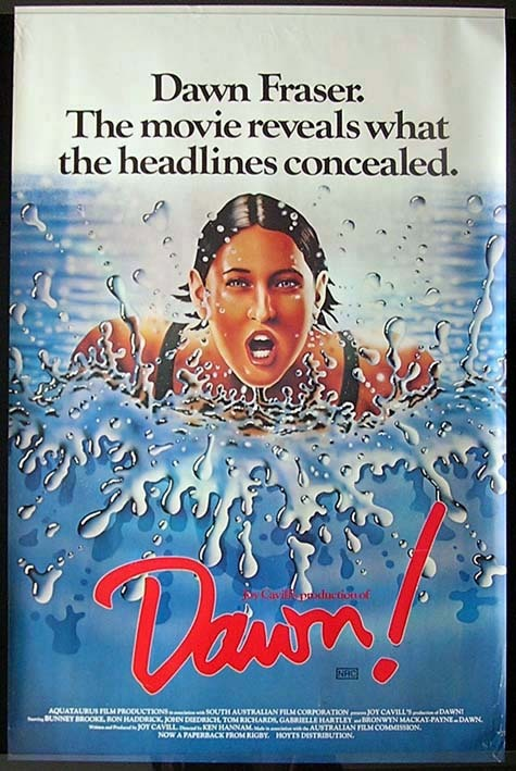 DAWN 1979 Dawn Fraser AUSTRALIAN OLYMPIC SWIMMER Rare One sht Movie Poster